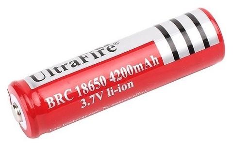 Аккумуляторы 18650 UltraFire 4200mAh (Li-ion) red