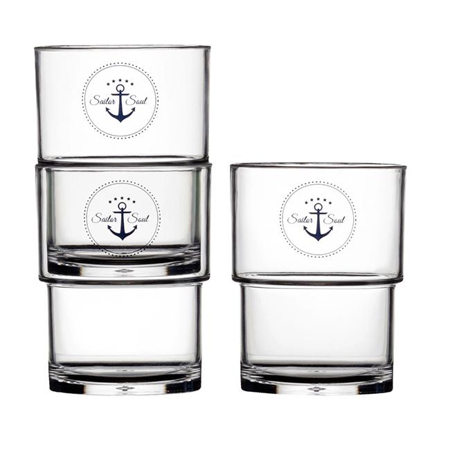 STACKABLE GLASSES, SAILOR SOUL ( SET OF 12)