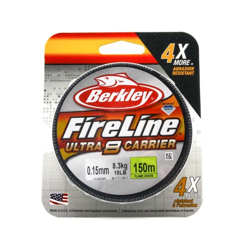 Плетеная леска Berkley Fireline Ultra 8 150M Светло-зеленая 0,15 FL Green
