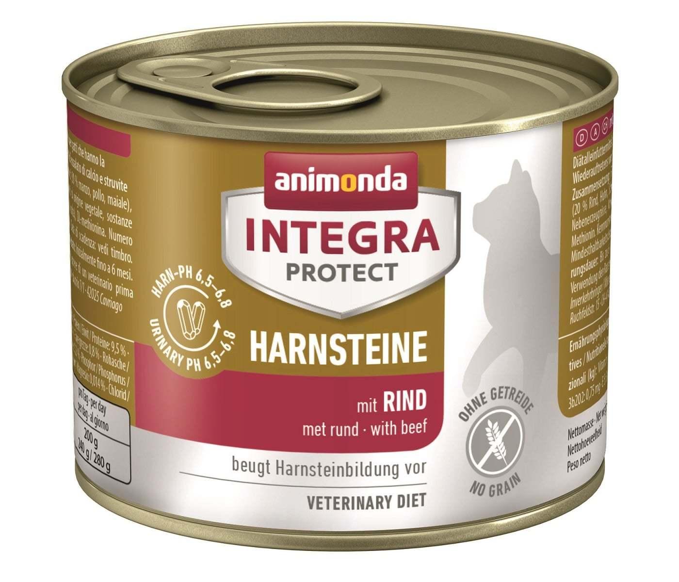 Купить Animonda Integra Protect Cat (банка) Harnsteine (URINARY) with Beef для кошек