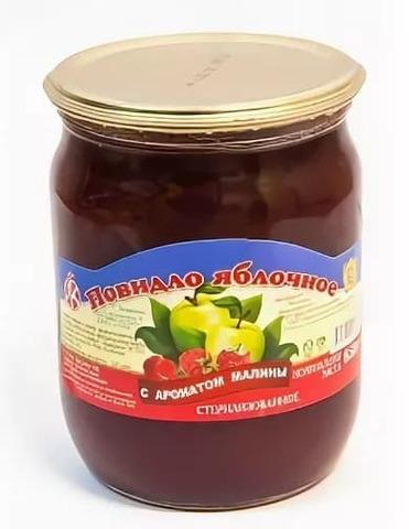 Повидло яблочное с ароматом малины 600 г. Ляховичи
