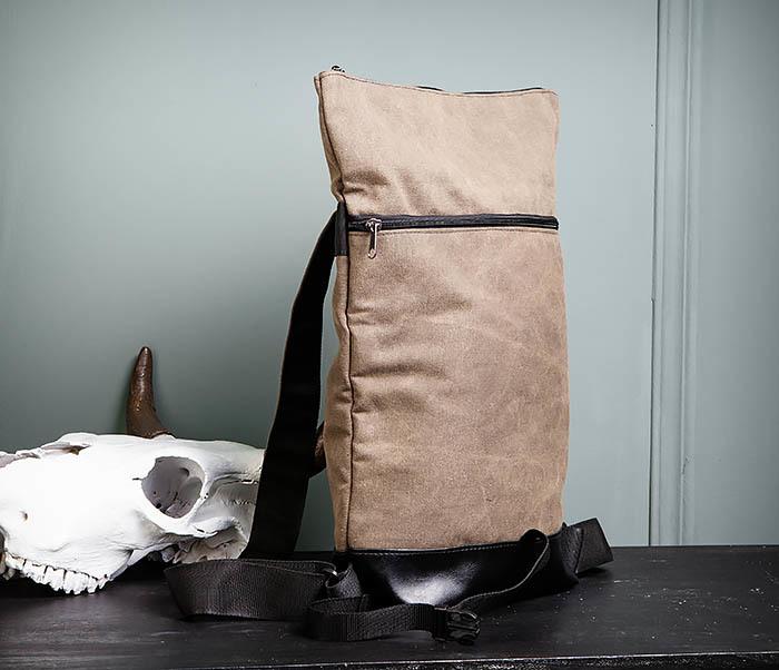BAG460-2 Мужской городской рюкзак из текстиля коричневого цвета фото 11