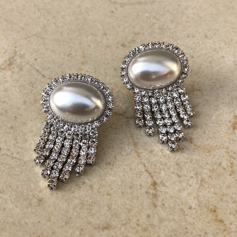 Серьги Цереса, серебряный цвет
