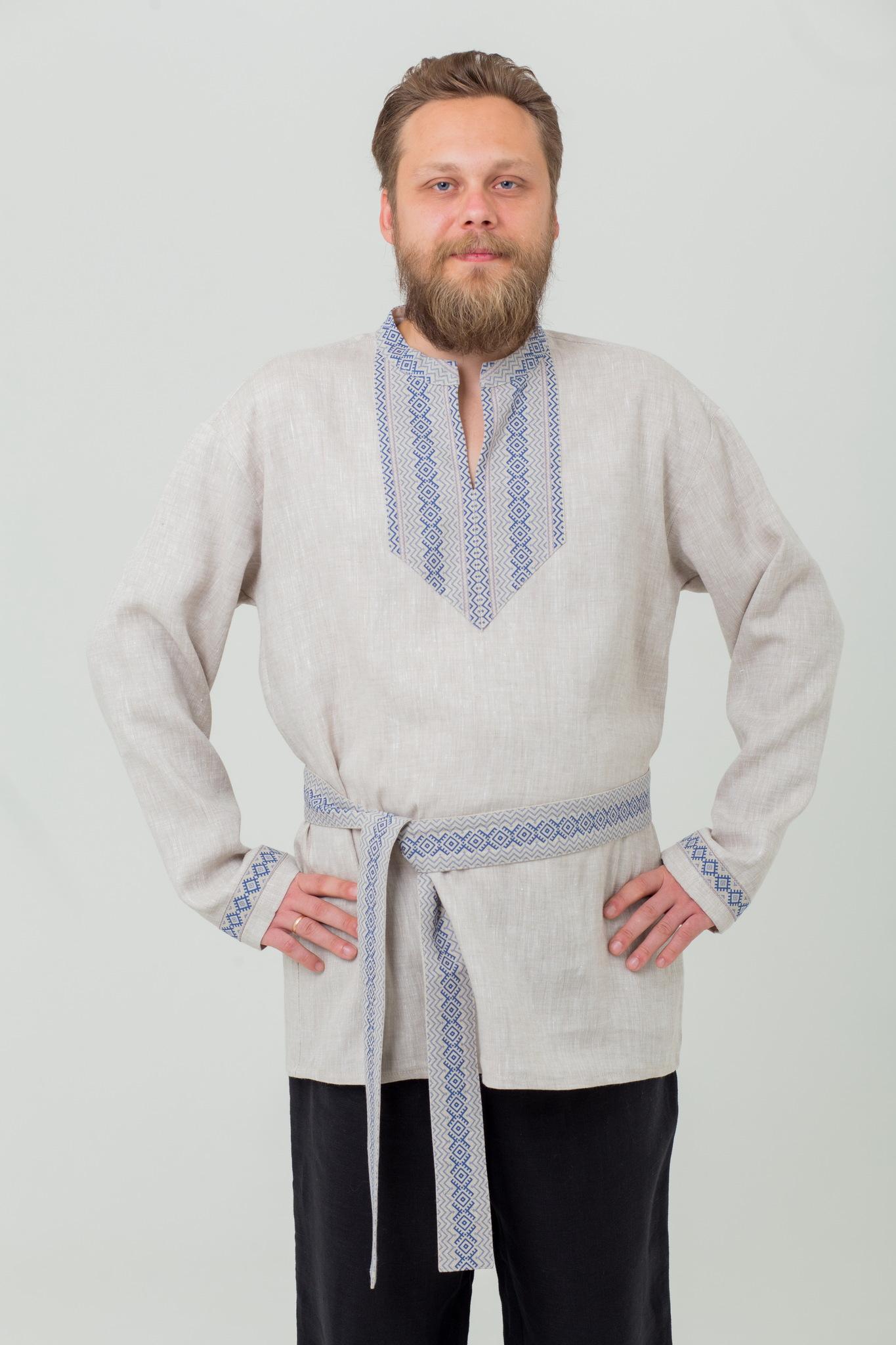 Славянская народная рубаха Льняной дождь с доставкой