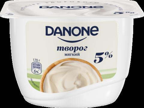 "Творог ""Danone"" мягкий 5%, 170 г"