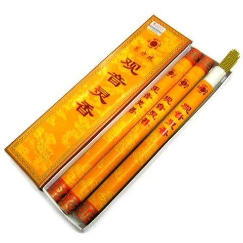 Благовония китайские безосновные Сандал Гуань Инь, 30*8*3 см в тубусах