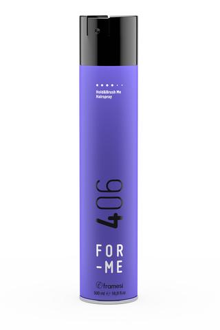 Лак для волос сильной фиксации FOR-ME 406 HOLD&BRUSH ME HAIRSPRAY, 500 мл