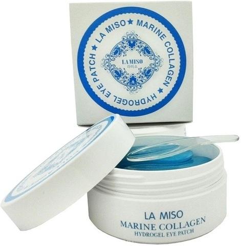 La Miso Marine Collagen Hydrogel Eye Patch гидрогелевые патчи с морским коллагеном