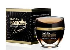 Премиальный крем с золотом и муцином улитки FarmStay