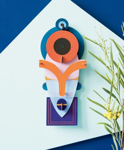 Декоративная бумажная маска Lamu