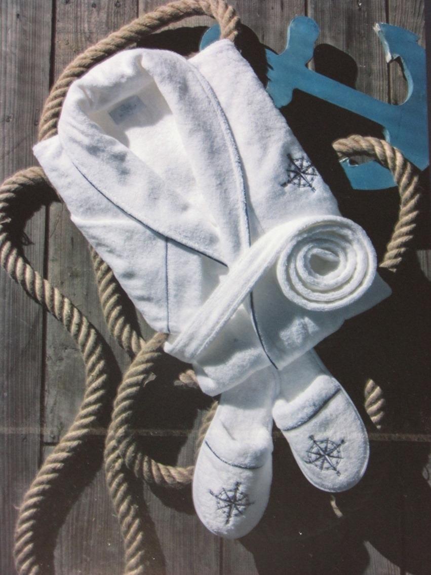 Махровые мужские халаты MARINE CLUB МАРИНЕ КЛАБ махровый мужской  халат с тапочками  Maison Dor Турция 18109b.jpg