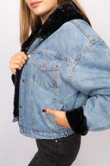 Джинсовая куртка с черным мехом и капюшоном интернет магазин