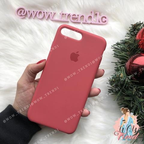 Чехол iPhone 7+/8+ Silicone Case /camellia/ винный original quality