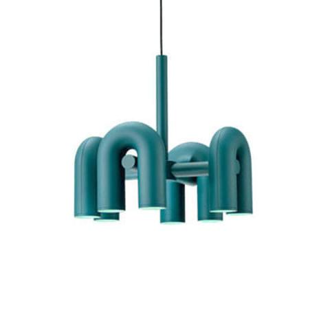 Подвесной светильник Cirkus by AGO Lighting (4 плафона/синий)