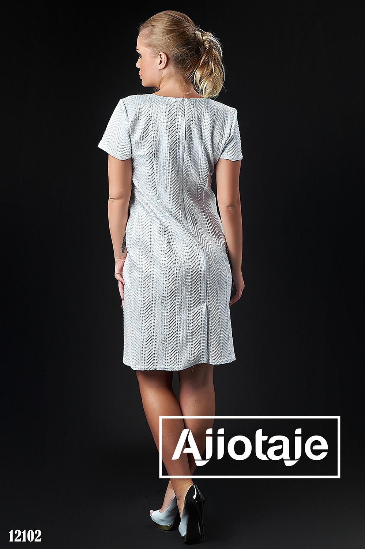 Платье полуприлегающего силуэта с кружевом