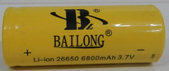 Аккумуляторы 26650 Bailong 6800mAh (Li-ion)