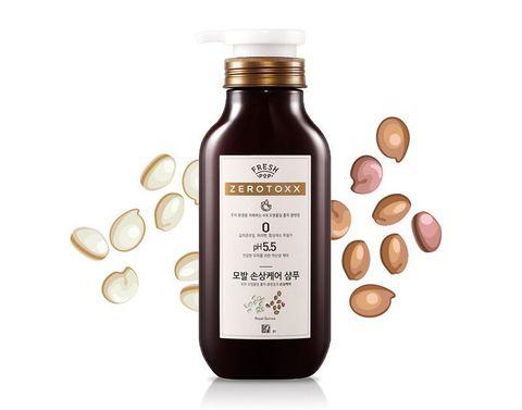 Шампунь для сухих и поврежденных волос с экстрактом киноа AmorePacific Fresh Pop zerotoxx Shampo royal quinoa (500 мл)