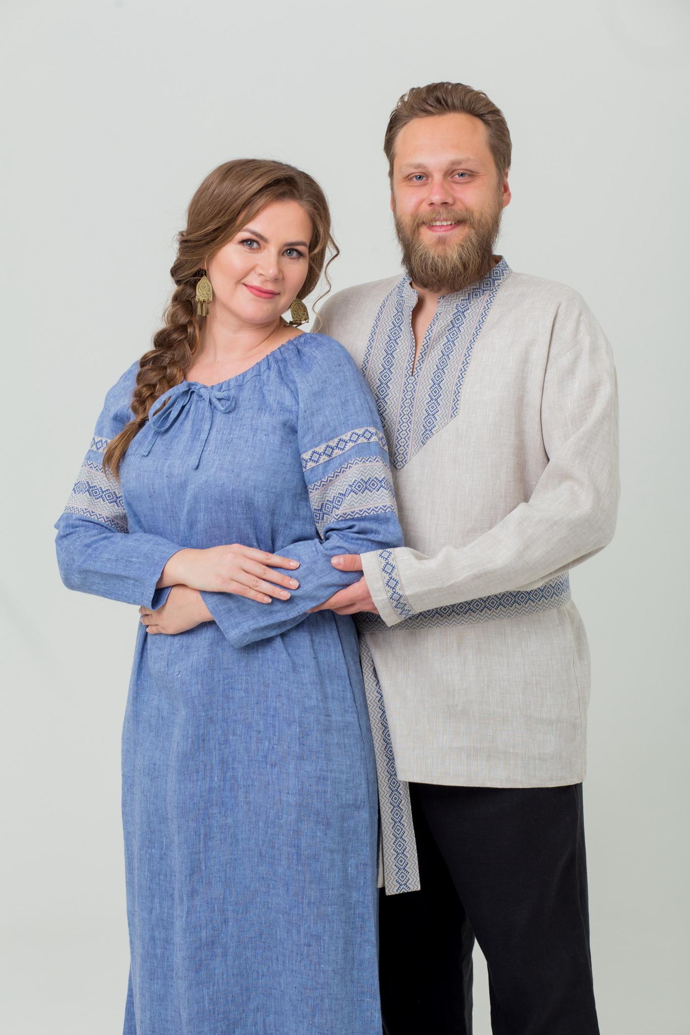 Рубаха на славянский праздник Льняной дождь