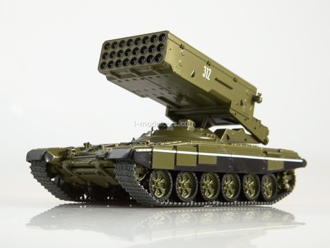 Tank T-90-TOS1A Solntsepek Our Tanks #21 MODIMIO Collections 1:43