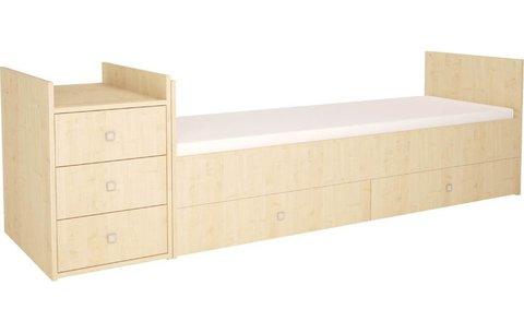 Кроватка детская Polini kids Simple 1000 с комодом, натуральный