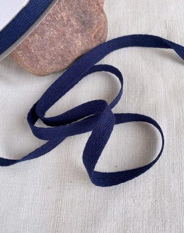 Киперная тесьма 10мм, темно-синий