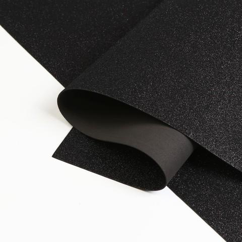 Глиттерный фоамиран 20*30см*1,8мм. Чёрный.