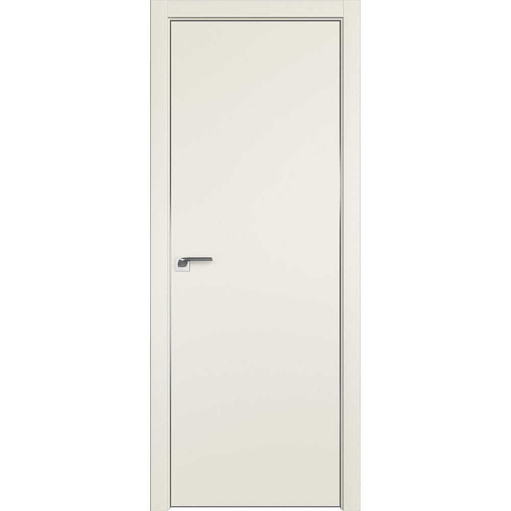 Двери в стиле минимализм Межкомнатная дверь экошпон Profil Doors 1E магнолия сатинат алюминиевая матовая кромка с 4-х сторон 1E_MAGnolia_CHROME_MAT.jpg