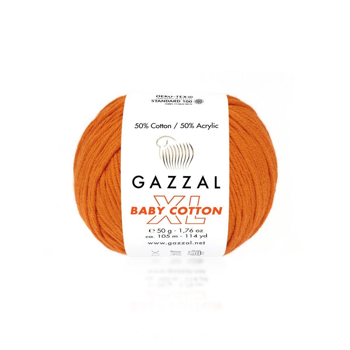 Пряжа Gazzal Baby Cotton XL 3419 оранжевый