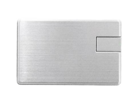 usb флешка карточка металлическая с логотипом
