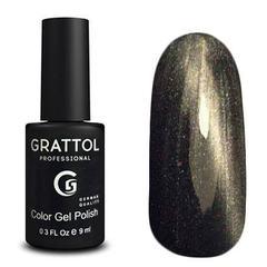Grattol, Покрытие с эффектом Кошачий глаз Crystal № 002 Silver , 9 мл