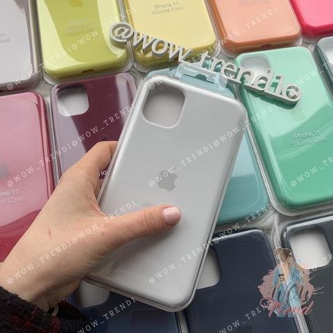 Чехол iPhone 11 Silicone Case Full /white/