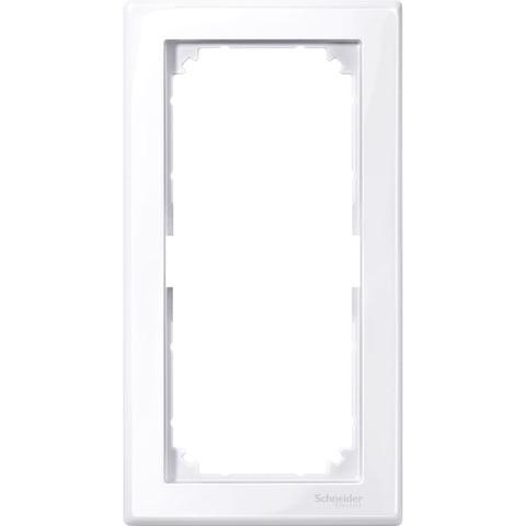 Рамка на 2 поста, без перегородки. Цвет Активный белый. Merten. M-Smart System M. MTN478825