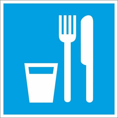 D01 Пункт (место) приёма пищи (плёнка ПВХ, 200х200)