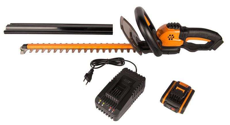 Кусторез аккумуляторный WORX WG261, 44см, 20В, 2Ач х1 и ЗУ