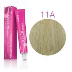 Matrix SOCOLOR.beauty: Ash 11A Ультра светлый блондин пепельный, краска стойкая для волос (перманентная), 90мл