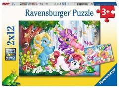 Puzzle Magische Einhornwelt 2x12 pcs
