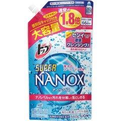 Средство для стирки, Lion Япония, TOP Super NANOX, концентрат, сменный блок, 660 мл