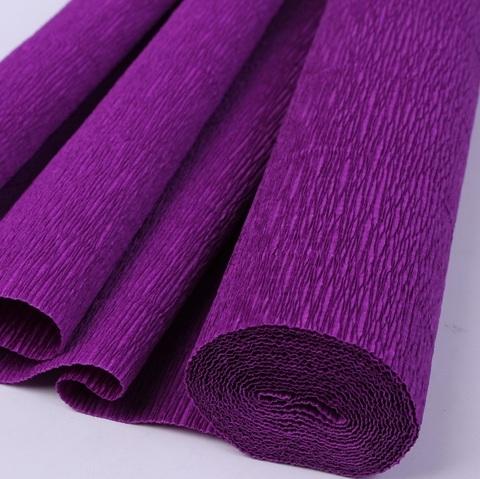 Бумага гофрированная, цвет 593 фиолетовый, 180г, 50х250 см, Cartotecnica Rossi (Италия)