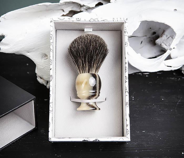 RAZ431-2 Помазок из барсучего волоса в подарочной коробке фото 04
