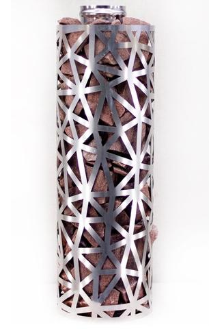 Сетка-каменка №2 (Лед) — d-250 — h-750 мм — нерж 1,5 мм AISI 430