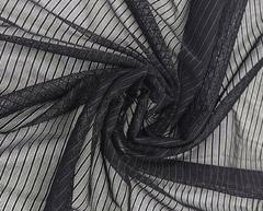 Эластичная сетка, черная, полоски, (Арт: ESPK-170)
