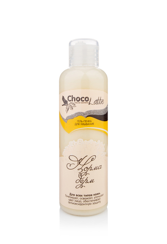 Гель-ПЕНКА для умывания НОРМА-ДЕРМ для всех типов кожи, тонус, цвет, защита, 100ml TM ChocoLatte