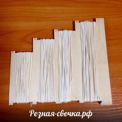 Набор фитилей с оснасткой для нарезки на 400 свечей