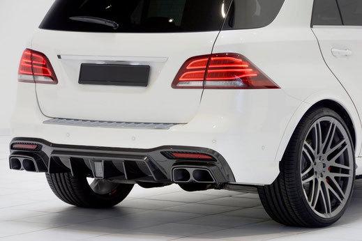 Карбоновый диффузор заднего бампера для кузова WAGON  Mercedes GLE