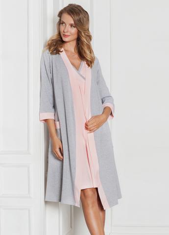 Комплект для роддома Monika для беременных и кормящих; цвет: серый меланж 6536
