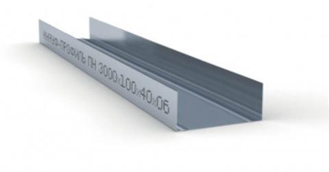 Потолочный профиль направляющий Кнауф  100х40х3000 мм 0,6 мм