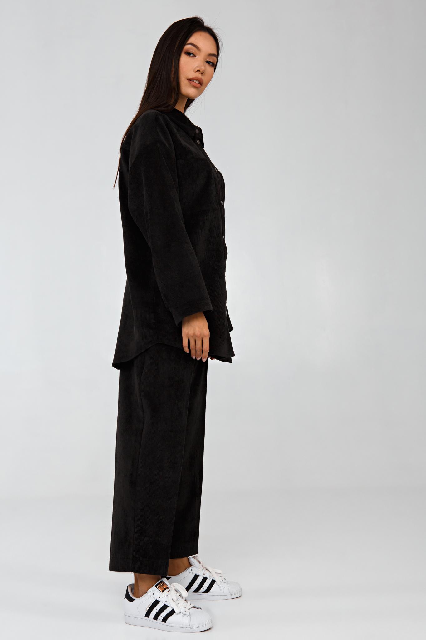 Вельветовый костюм в рубчик графитовый YOS от украинского бренда Your Own Style