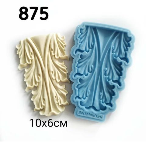 Молд Накладка 10х6см, Арт.PO-0875, силикон