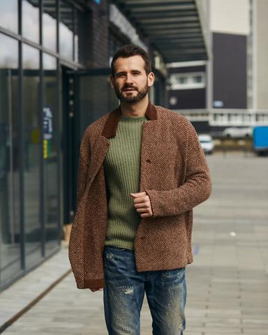 Набор для вязания твидового пиджака