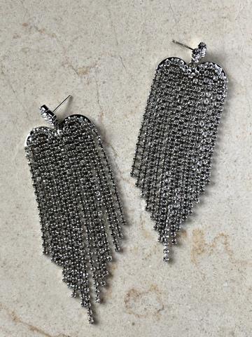 Серьги Джайзи, серебряный цвет
